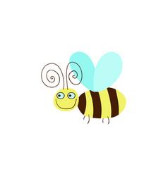 funny honeybee cartoon vector image vector image