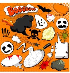 halloween comic speech bubbles vector image vector image