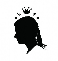 princess with crown vector image vector image