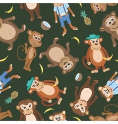 Smiling Monkey Texture vector image vector image