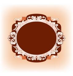 Vintage frame template artwork vector image vector image