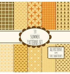 10 patterns set vector image