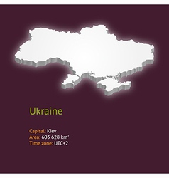 3d map of Ukraine vector