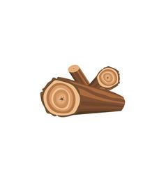 a bunch big logs firewood vector image