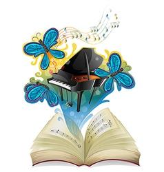 A musical book vector image
