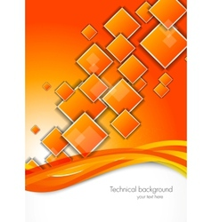 Abstract background with orange squares vector image