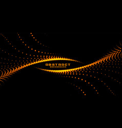 Abstract glowing particles in swirl style vector