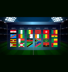 africa nations soccer cup vector image