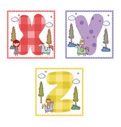 Alphabets letters for kids vector