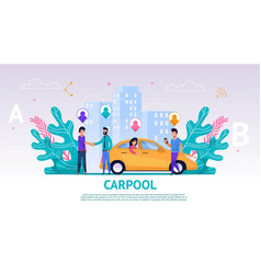 Banner group people travel companion vector