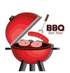 Bbq party best meat vector