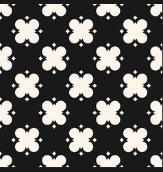 black and white geometric floral abstract pattern vector image