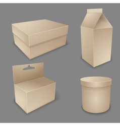 Blank packing collection vector