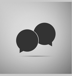 blank speech bubbles icon on grey background vector image