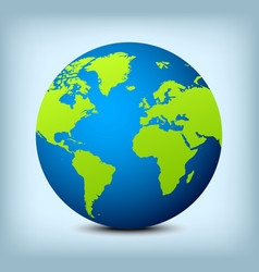 Blue and green globe icon vector