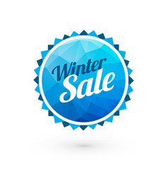 blue winter sale sign vector image