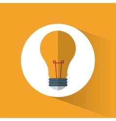 bulb light energy symbol shadow icon vector image