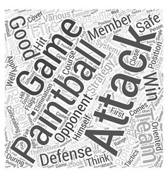 BWPB paintball defense system Word Cloud Concept vector