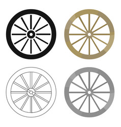 Cart-wheel icon cartoon singe western icon from vector