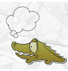 Cartoon crocodile paper background vector image