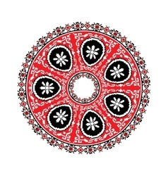 Circular pattern in traditional style vector image