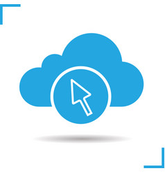 cloud storage access glyph icon vector image