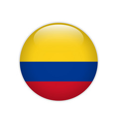 colombia flag on button vector image