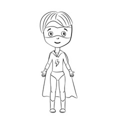 coloring book cartoon superhero vector image