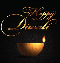 Decorative lamp background for diwali 2109 vector