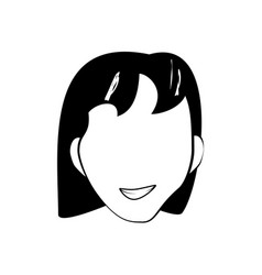 Face woman smile cartoon vector