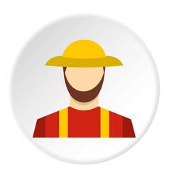 farmer icon circle vector image