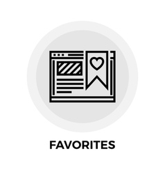 Favorites Line Icon vector image