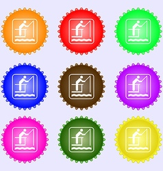 fishing icon sign Big set of colorful diverse vector image
