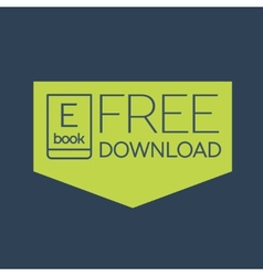Flat Ebook free download icon vector