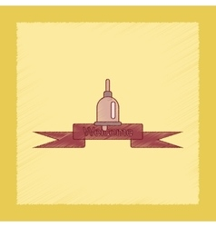 Flat shading style icon school bell vector