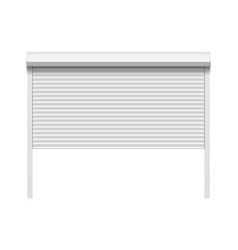garage door with rolling shutters vector image
