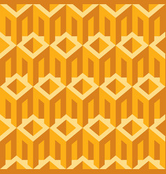 Geometric seamless pattern with simple 3d elements vector
