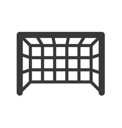 Goal net soccer related solid icon vector