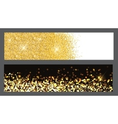 Gold sparkles christmas banners vector