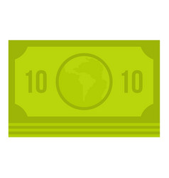 green money banknote icon isolated vector image