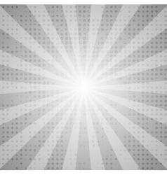 Grey abstract retro beams background vector image