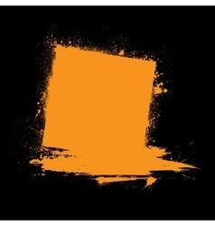 Grunge ink blots orange vector