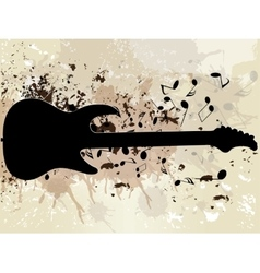 grunge musical background theme vector image