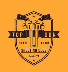 gun club vintage logo vector image