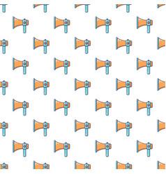 Hand speaker pattern seamless vector