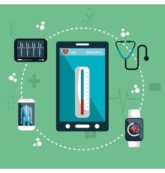 health app medical digital healthcare vector image
