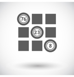 Keno flat icon vector