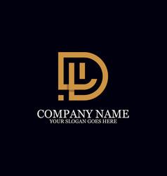 Letter dl monogram logo inspiration great vector