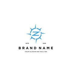 Letter z compass logo design vector