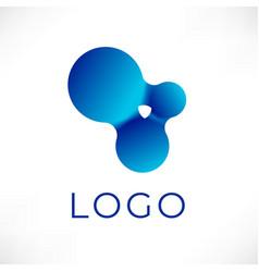 logo liquid design vector image